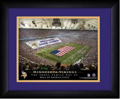 Your Name on a sign in Hubert Humphrey Metrodome, Your Day at the Stadium.  Great gift for Vikings Fans. Customize with your name on cards held by the fans and make it Your Day at the stadium.