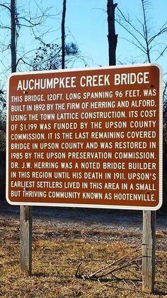 Beautiful covered bridge here! Upson County Ga