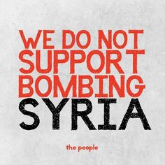We do not support bombing Syria | Anonymous ART of Revolution