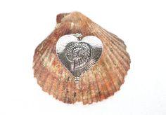 Herz Anhänger Ammonit silber Ketten Anhänger von JewelsbyLonasART