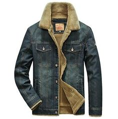 Looking for ebossy Men's Winter Thicken Sherpa Lined Distressed Denim Trucker Jacket ? Check out our picks for the ebossy Men's Winter Thicken Sherpa Lined Distressed Denim Trucker Jacket from the popular stores - all in one. Sherpa Lined Denim Jacket, Denim Jacket Men, Bomber Jacket Men, Denim Jackets, Fleece Jackets, Denim Coat, Bomber Jackets, Denim Men, Motorcycle Jackets