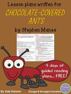 Crafting Connections: FREE Guided Reading Lesson Plans for Chocolate Covered Ants by Steven Manes (GR Level Q)