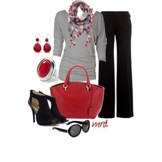 Red Black & Grey, created by michelled2711 on Polyvore