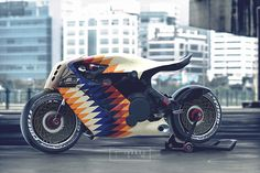I need this eye-catching cafe racer girl Concept Motorcycles, Cool Motorcycles, Futuristic Motorcycle, Motorcycle Bike, Vespa Scooter, Moto Scrambler, Motorbike Design, Cafe Racer Build, Hot Bikes