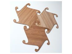 Laser cut bamboo coasters