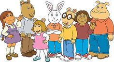Arthur and his crew: Muffy, Brain, D.W., Buster, Arthur, Francine, Binky