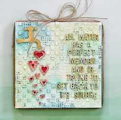 Hello and Happy Thursday! Tina  here today a Mixed Media canvas, using a favorite quote.   Creating mixed media projects shouldn't be diffi...