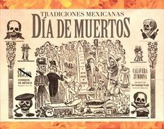 Sello: Day of the Death (México) (Mexican Traditions) Mi:MX BL103,WAD:MX034.13