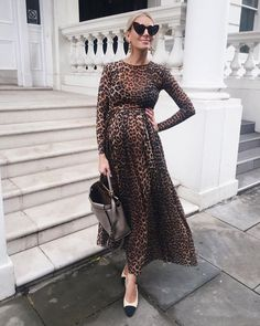 Limited Offer of Leopard Dress Pregnancy Dress Photography Maternity Photography Props Long Sleeve Maternity Dresses For Photo Shoot Maxi Dr. Maternity Fashion Dresses, Stylish Maternity, Maternity Wear, Dress Outfits, Maternity Clothing, Dress Fashion, Style Fashion, Maternity Styles, Moda Fashion