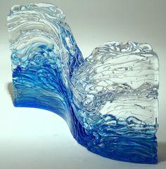 Art Glass wave sculpture from Kela's...a glass gallery on Kauaii