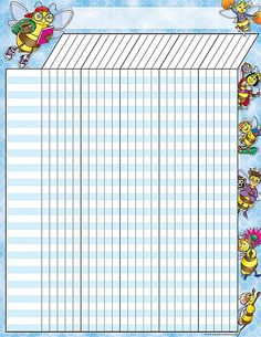 - Bees Incentive Chart, Convenient, useful learning tools that decorate as they educate! Each chart measures by Related lessons and activit. Teacher Binder Covers, Teacher Created Resources, 1st Day, Busy Bee, Learning Tools, Sunday School, Planner Stickers, Classroom, Chart
