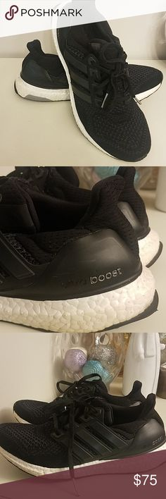 7ddc3179b4e Adidas Ultra Boost Tennis Shoes Black men s size 8 1 2. I wore these