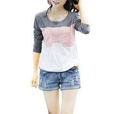 Partiss Womens Contrast Color Sweatshirt