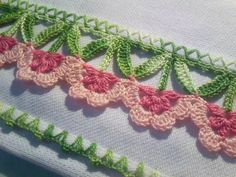 Crochet Edging What a lovely edging … … - Crochet Boarders, Crochet Edging Patterns, Crochet Motifs, Thread Crochet, Crochet Trim, Irish Crochet, Crochet Designs, Crochet Crafts, Crochet Doilies
