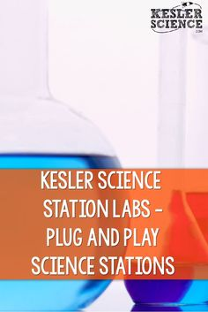 A better solution to the traditional science station lab! Check out Kesler Science Station Labs Series. It is a plug in play system that allows the station to remain somewhat consistent throughout the year, but allows the teacher to interchange the conte Science Resources, Science Lessons, Science Activities, Science Ideas, Science Experiments, Mad Science, Earth Science, Teaching Science, Science Stations