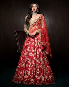 Are you looking for bridal lehenga designs photos for reception and wedding? Here is a latest 2018 & 2019 collections of bridal lehenga images.View more. Indian Bridal Lehenga, Red Lehenga, Indian Bridal Wear, Indian Wedding Outfits, Pakistani Bridal, Bridal Outfits, Indian Outfits, Bridal Dresses, Lehenga Choli