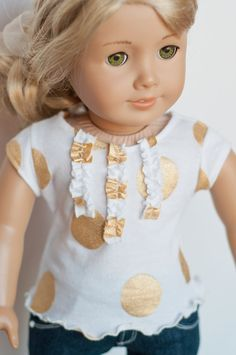 Cute ruffle detail added to the LJ Trendy T-shirt pattern. pic only