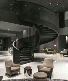 ╔ ╝ awesome staircase ╚ ╗ dream rooms, modern mansion interior, home interi Modern Mansion Interior, Dream House Interior, Luxury Homes Dream Houses, Dream Home Design, Modern House Design, Dream Homes, Studio Interior, French Interior, Classic Interior