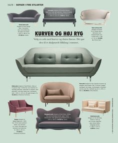Sofas with curves Large Furniture, Sofa Design, Home Living Room, Eames, Lounge, Studio, Chair, Curves, Inspiration