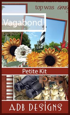 ADB Designs newest digital scrapbooking kit Vagabond was designed with men in mind to tell the stories of Exploring.  You will find lots of travel elements and scenery as well to scrap those family vacations too.
