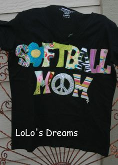 Softball Star Tshirt  Handmade  Monogrammed  All by LoLosDreams, $29.99