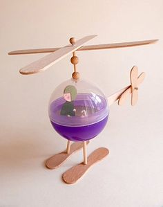 DIY Recycled Helicopter Toy for Kids crafts kids easy DIY Toys For All the Kids ⋆ Handmade Charlotte Easy Crafts For Kids, Summer Crafts, Projects For Kids, Diy For Kids, Holiday Crafts, Craft Projects, Recycled Toys, Recycled Crafts, Popsicle Stick Crafts