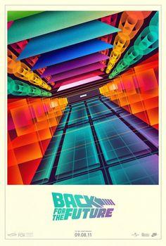 Alternative retro Back to the Future movie poster.