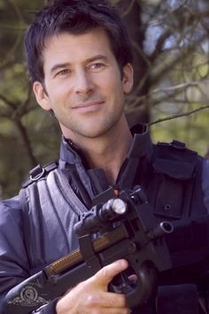 John Sheppard from Stargate Atlantis - is it wrong that I actually growl when I look at this man!! My kids think so!