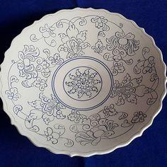 Narlı takım. Fiyat için DM . . ..#cini#çini#çinitabak#tabak#plate#nar#bereketnarı #evdekorasyonu #yemek#mutfak #mutluyumçünkü… Dot Art Painting, Pottery Painting, Ceramic Painting, Ceramic Art, Blue Pottery, Pottery Plates, Ceramic Pottery, Pottery Art, Round Canvas