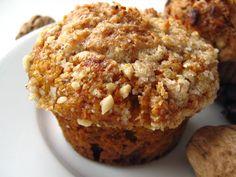Spicy pumpkin cupcakes with walnut crumb
