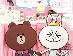 "LINE Brown & Cony  / Wedding ""Eric & June "" 