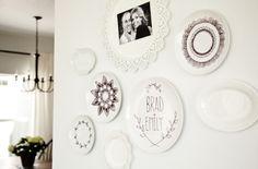 DIY Personalized Sharpie Plates | Simple Wall Art Decor by DIY Ready at www.diyready.com/20-cool-wall-art-ideas/