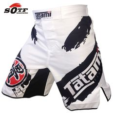 Boxing Shorts Mma Fightwear Trunks Polyester Black and white Personalized Wear #BoxingShorts #Athletic