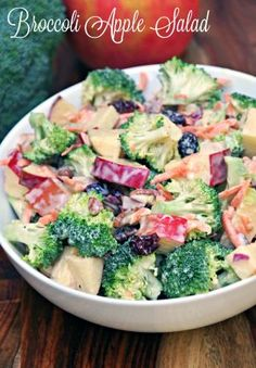 Want a quick lunch idea or side dish to bring to a potluck dinner? Try this Creamy Broccoli Apple Salad Recipe. Loads of flavor with plenty of crunch!