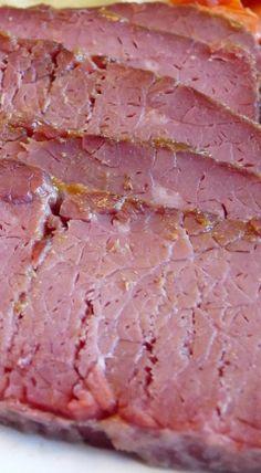 Corned Beef with Brown Sugar Mustard Glaze