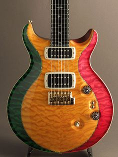 Paul Reed Smith Private Stock Santana II Custom Inlay East Indian RW Neck #4011 Hand Pick Quilted Maple G/H Rasta 2013