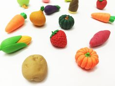 Erasers: Fruits and Vegetables mini only at AlenaSani.com