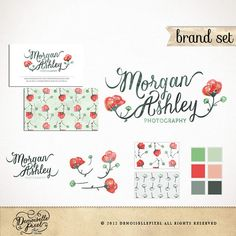 Brand Identity Package Custom Premade Logo Set by Demoisellepixel