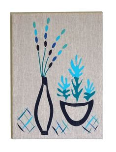 """Embroidered Artwork, Wall Hanging - """"Still Life"""""""