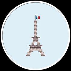 Mini Eiffel Tower Cross Stitch Pattern PDF by HappyStitchProject, $1.99
