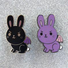 Vampire Bunny Hard Enamel Pin by TallRabbit on Etsy