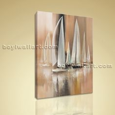 """Impressionist Painting Seascape HD Print Canvas Wall Art Sailing Boat Abstract Extra Large Wall Art, Gallery Wrapped, by Bo Yi Gallery 16""""x24"""". Impressionist Painting Seascape HD Print Canvas Wall Art Sailing Boat Abstract Subject : boat Style : impressionist Panels : 1 Detail Size : 16""""x24""""x1 Overall Size : 16""""x24"""" = 41cm x 61cm Medium : Giclee Print On Canvas Condition : Brand New Frames : Gallery wrapped [FEATURES] Lightweight and easy to hang. High revolution giclee…"""