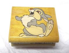 Rubber Stampede Thumper rubber stamp Disney Babies A199-C Wood Mounted Bunny #RubberStampede #BambiCharactersBunniesAnimals