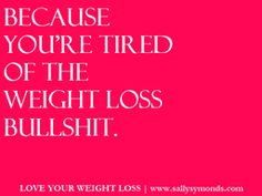 "Want to lose weight?  Then start your FREE trial of Love Your Weight Loss and become one of ""those people"" who never have to worry about their weight again!  Let Sally show you how she did it - and you can too!"