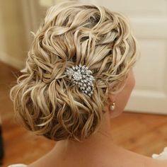 Textured bridal hair