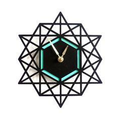 Modern Wall clock geometric clock 12 x 13 inches black by decoylab Contemporary Home Decor, Modern Wall, Modern Decor, Interior Modern, Contemporary Architecture, Modern Rustic, Interior Design, Luxury Home Decor, Diy Home Decor