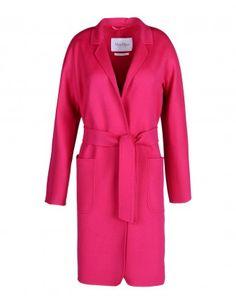 Wool-Angora Belted Coat
