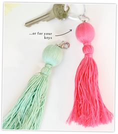 Easy Tassel Charms | Damask Love Blog