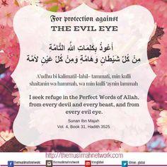 Protection from Evil eye dua Duaa Islam, Islam Hadith, Allah Islam, Islam Quran, Alhamdulillah, Islamic Prayer, Islamic Teachings, Islamic Dua, Islamic Qoutes
