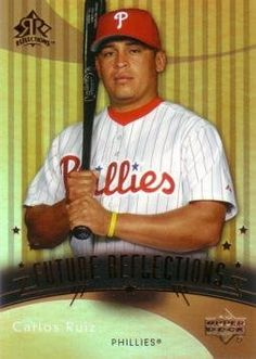 2005 Upper Deck Reflections Baseball Carlos Ruiz Rookie Card by Upper Deck Reflections. $4.95. 2005 Upper Deck Reflections #208 Carlos Ruiz Rookie Card. Near Mint to Mint condition. Comes in a plastic top loader for its protection.